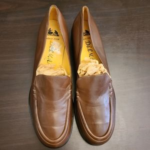 Vintage Delman Brown Leather Loafers Size 9